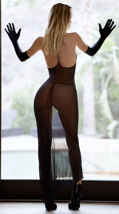 Rochie sexy transparenta la hotel