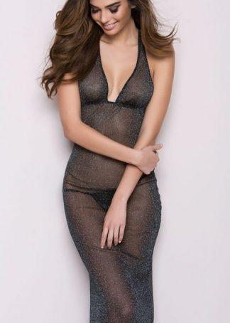 Rochie lunga transparenta model Ana
