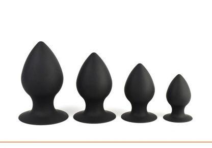 Dopuri anale din silicon negre