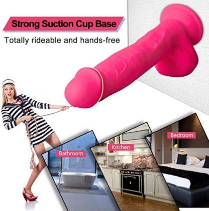 Dildo roz din silicon 24