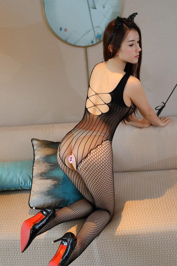 Plasa sexy neagra cu gauri, model Alina, marime universala, cod produs: 16