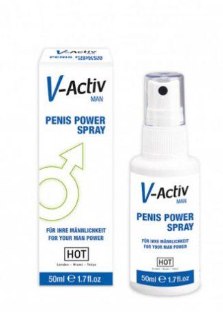 HOT V-Activ penis power spray pentru bărbați 50 ml stimulent pentru erectie